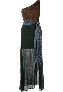 Cecilia Prado Vestido Longo De Tricô - Brown