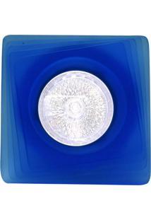 Spot Dicróica Fixo Vidro Quadrado Mr16 50W 220V Azul