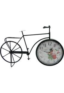 Relógio Kasa Ideia Bicicleta De Mesa 23X41Cm