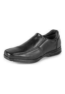 Sapato Social Confort Em Couro Yes Basic 5030 Preto