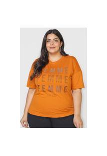 Camiseta Colcci Femme Caramelo