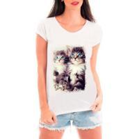651d2555d Camiseta Bata Criativa Urbana Pet Lovers Feminina - Feminino-Branco