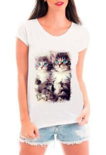 Camiseta Bata Criativa Urbana Pet Lovers Feminina - Feminino-Branco