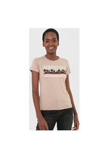 Camiseta Aeropostale Estampada Bege