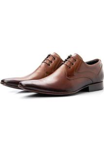 Sapato Social Couro Sola Couro Bigioni 379 Masculino - Masculino-Caramelo
