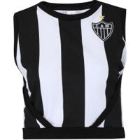 43617f703e Blusa Cropped Do Atlético-Mg Little - Feminina - Preto Branco