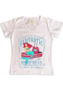 Camiseta Cool Tees Sereias Em Conservas Feminina - Feminino-Rosa