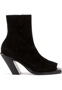 Ann Demeulemeester Ankle Boots Peep-Toe - Preto