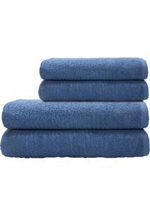 Toalha De Rosto Nexus- Azul Escuro- 45X70Cm- Camcamesa