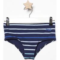 baae90b6c Calcinha Sunquíni Listrada Com Lycra®   Fps 50+ - Azul Mfila