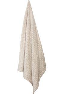 Cobertor Solteiro Loft Bege E Branco (150X220Cm)