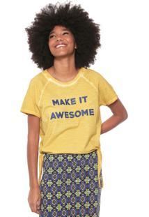 Camiseta Oh, Boy! Amarrações Amarela