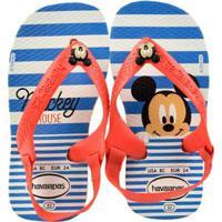 8062e5a64 Chinelo Infantil Havaianas Mickey Masculino - Masculino-Branco+Vermelho