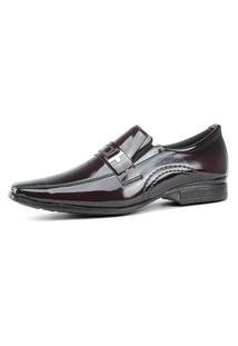 Sapato Social Masculino Bordo