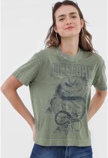 Camiseta John John Snake Flowers Verde - Verde - Feminino - Algodã£O - Dafiti