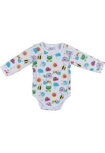 Body Infantil Para Bebê Menina - Branco