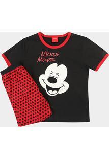 Pijama Infantil Lupo Mickey Manga Curta Masculino - Masculino