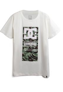 Camiseta Dc Shoes Menino Logo Off-White