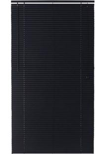 Persiana Horizontal Em Pvc Block 220X80Cm Preta