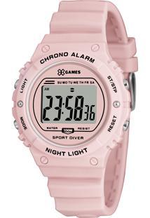 Relógio Digital X Games Feminino - Xfppd056 Rosa Claro