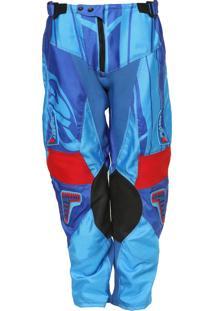 Calça De Motocross Pro Tork Connect Azul