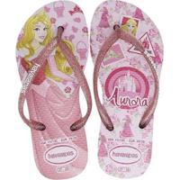 fc81fd9b1 Chinelo Infantil Havaianas Princesas Aurora Feminino - Feminino-Rosa