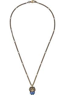 Gucci Colar Com Pingente De Leão - Dourado