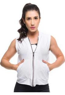 Colete Maxx Air Sandy Fitness - Feminino-Branco