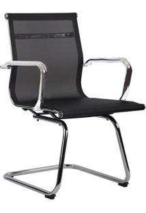 Cadeira De Escritório Interlocutor Fixa Eames Star Preta