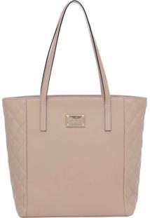 6bdc6d161 Bolsa Smart Bag Couro Tiracolo - Feminino-Nude