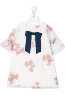 Hucklebones London Vestido De Jacquard Com Estampa Floral - Branco