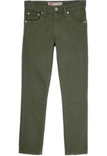Calça Jeans Levis 510 Skinnny Infantil - 90009 - Masculino-Verde