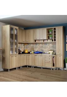 Cozinha Completa 16 Portas 3 Gavetas Sicília 5804 Argila - Multimóveis