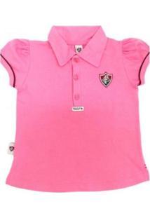 Camiseta Polo Reve D'Or Sport Fluminense Rosa