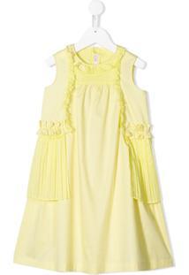 Il Gufo Vestido Com Detalhe De Pregas - Amarelo