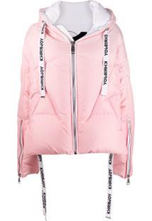 Khrisjoy Hooded Zip Puffer Jacket - Rosa
