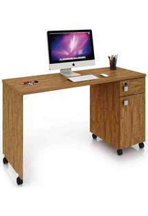 Mesa Para Computador Malta Amêndoa