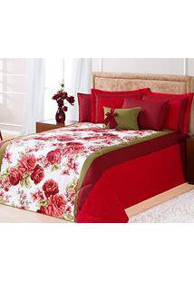 fff1323a10d Edredom Cama Queen Vermelho Com 7 Peças Tecido Algodão E Poliester E  Microfibra - Edredom Savana
