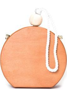 Bolsa Clutch Madeira Detalhe