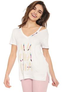 Camiseta Lez A Lez Muchacha Branca