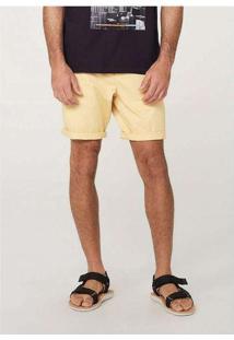 Bermuda Básica Masculina Chino Amarelo