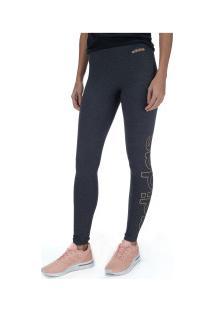 Calça Legging Adidas Ess Brand - Feminina - Cinza Esc Mescla
