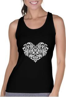 5851fc9532aa8 Camiseta Regata Criativa Urbana Cavada Coração Tribal - Feminino ir para a  loja