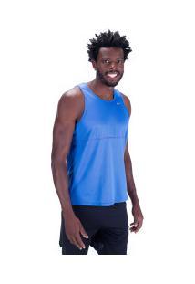 Camiseta Regata Nike Breathe Run Tank - Masculina - Azul