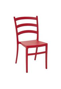 Cadeira Monobloco Tramontina 92034040 Nadia Polipropileno Vermelha