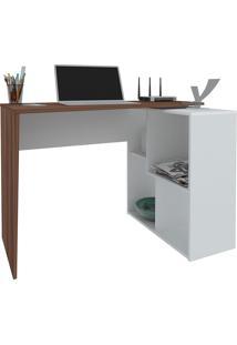 Mesa Para Computador Urban-Artany - Ipe / Branco