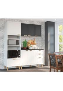Cozinha Compacta Nevada Xi 6 Pt 4 Gv Branca E Grafite