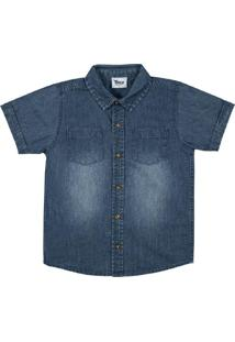 Camisa Infantil Masculina Cinza