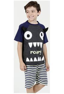 Pijama Infantil Estampa Monstro Marisa