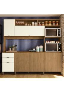Cozinha Compacta Frow I 5 Pt 3 Gv Freijó E Off White 230 Cm